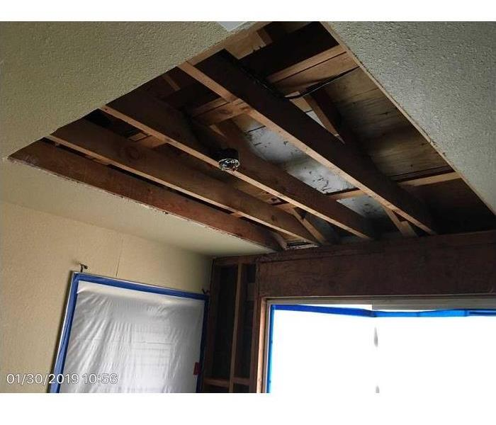 Water Damaged Ceiling After