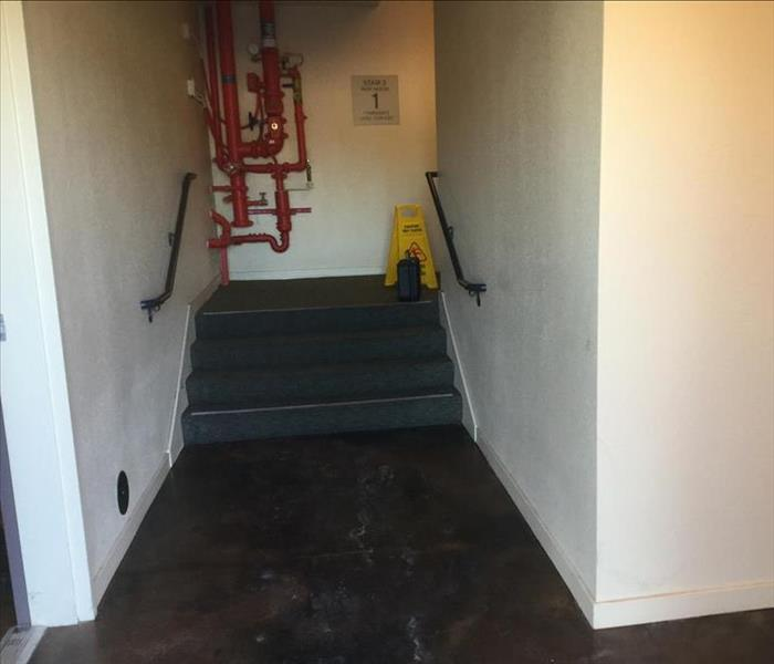 Water Damage in a commercial Building in Sacramento. CA Before